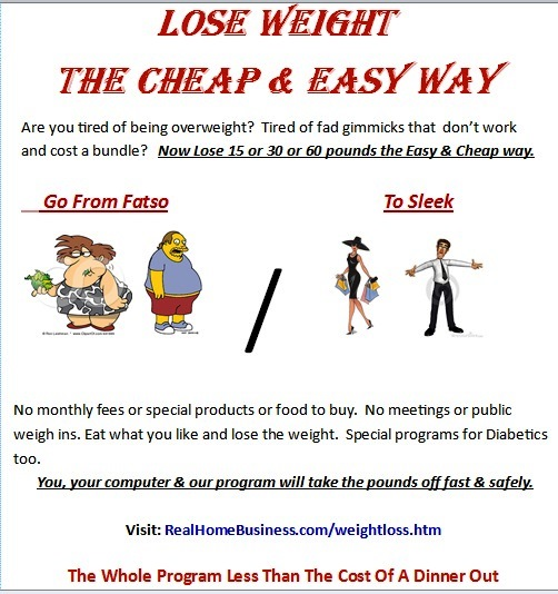 our simple easy to use cheap weight loss system